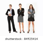 group of businesswomen in studio | Shutterstock . vector #84925414
