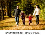 portrait of a young family in... | Shutterstock . vector #84934438