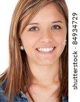 portrait of a beautiful teenage ... | Shutterstock . vector #84934729