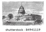 Stock vector united states capitol in washington d c usa vintage engraved illustration trousset 84941119