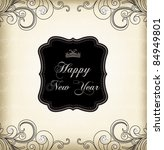 vintage frame  happy new year    Shutterstock .eps vector #84949801