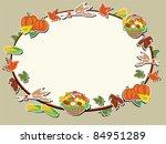 thanksgiving day  oval frame | Shutterstock .eps vector #84951289