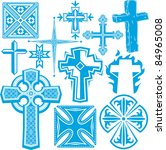 clip art collection of cross... | Shutterstock .eps vector #84965008