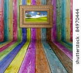 Multi Color  Wood Background...