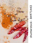 dried peppers and other kind of ... | Shutterstock . vector #84971443