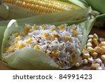 corn rice, south indian food - stock photo