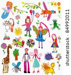 child's pictures | Shutterstock .eps vector #84992011