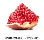 Red Pomegranate. Isolated On...