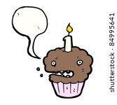 cartoon talking chocolate muffin | Shutterstock .eps vector #84995641