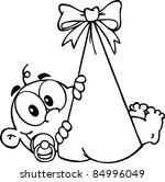 outlined baby boy in bundle   Shutterstock .eps vector #84996049