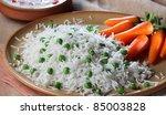 vegetable rice - stock photo