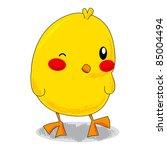 cute yellow cartoon little... | Shutterstock . vector #85004494