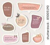 vector set of speech bubbles  ... | Shutterstock .eps vector #85005190