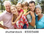 portrait multi generation... | Shutterstock . vector #85005688