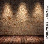 interior room with 3 spots | Shutterstock . vector #85005817
