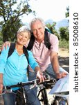 senior couple with map on... | Shutterstock . vector #85008610