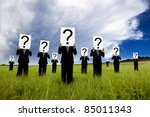 Group Of Businessman In Black...