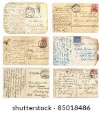 old postcards set | Shutterstock . vector #85018486