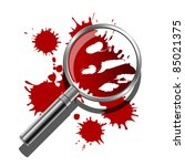 a magnifying glass being used... | Shutterstock .eps vector #85021375