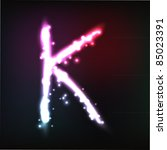 vector alphabet. neon letter | Shutterstock .eps vector #85023391