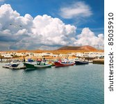 fishermen boats in caleta de... | Shutterstock . vector #85035910