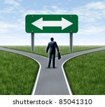 decision time for a career with ... | Shutterstock . vector #85041310