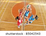 volleyball game sport with... | Shutterstock . vector #85042543