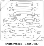 hand drawn ribbons banner... | Shutterstock .eps vector #85050487