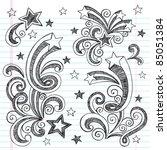 shooting stars hand drawn...   Shutterstock .eps vector #85051384