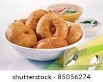 indian food,vada smbar - stock photo