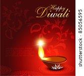artistic diwali festival diya... | Shutterstock .eps vector #85056595