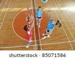 volleyball game sport with... | Shutterstock . vector #85071586