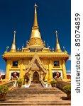 golden pagoda  wat thai of...   Shutterstock . vector #85074859