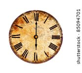 Time On Vintage Clock
