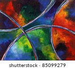 abstract painting | Shutterstock . vector #85099279