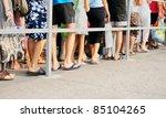 legs of people standing in line ... | Shutterstock . vector #85104265