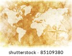 Old Fashioned World Map Design  ...