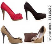 Four Female High Heeled Shoes...