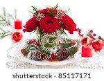Christmas Arrangement Of Red...