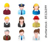 web icons   professional people ... | Shutterstock .eps vector #85126399
