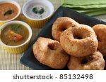 vada sambar - stock photo