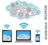 vector cloud computing | Shutterstock .eps vector #85139230