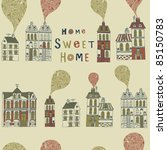 card with houses | Shutterstock .eps vector #85150783