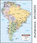 2012 south america political... | Shutterstock .eps vector #85156024
