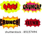 a collection of comic book... | Shutterstock . vector #85157494