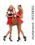 Two Women In Carnival Costume....