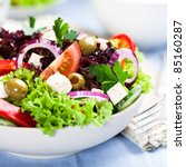 Greek Salad With Juicy Tomatoe...