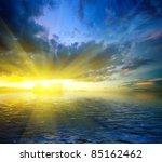 colorful dramatic landscape... | Shutterstock . vector #85162462