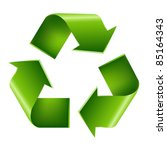 recycle symbol  isolated on... | Shutterstock .eps vector #85164343