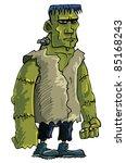 Cartoon Green Frankenstein...